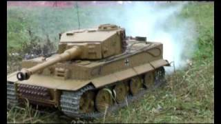 getlinkyoutube.com-Большие модели танков, R/C TANKS, small war. AirStrike, tank battle 1:6