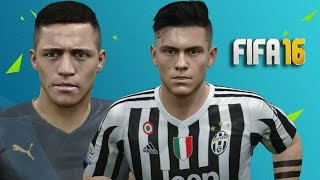 FIFA 16 Player Faces and Tattoos Update Ft. Dybala, Totti, Puyol and more!