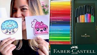 getlinkyoutube.com-Coloreando con FABER-CASTELL+ dibujos KAWAII !! - Mery