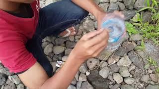 getlinkyoutube.com-Cara mudah mencari udang sungai pakai botol bekas ... panen panennnn. Pas buat umpan mancing