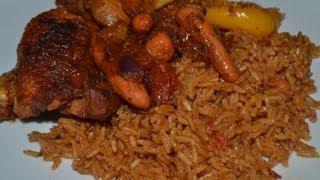 getlinkyoutube.com-recette du Riz au gras - Jollof rice (cuisine togolaise)