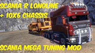 getlinkyoutube.com-SCANIA MEGA TUNING LONGLINE 10x6 ETS2 (1.16 patch) [1080p, 60fps, ultra settings]