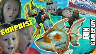 getlinkyoutube.com-DEEP DIVE GILL GRUNT & REEF RIPPER + SHARK SHOOTER TERRAFIN (Skylanders Superchargers Surprise)
