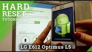 getlinkyoutube.com-Hard Reset LG E612 Optimus L5