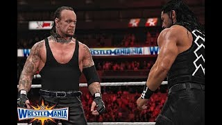 WWE Wrestlemania 33 Roman Reigns vs The Undertaker Full Match Highlights HD