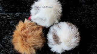 طريقة عمل كرة بومبون من الفرو | قناة كروشيه كافيه |Crochet Cafe Channel