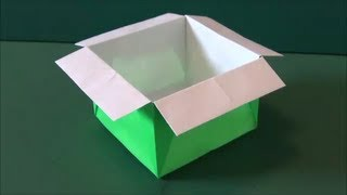 "getlinkyoutube.com-簡単な「箱」折り紙""Easy ""box"" ""origami"