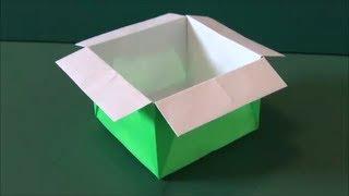 """簡単な「箱」折り紙""""Easy """"box"""" """"origami"""