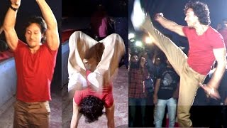 getlinkyoutube.com-Tiger Shroff's STUNTS In Real Life In Theatre During Baaghi Show