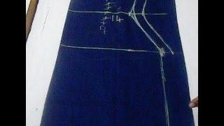 getlinkyoutube.com-Kameez / Kurta Cutting easy method step by step  (DIY)