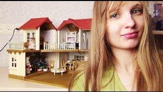 getlinkyoutube.com-Обзор Sylvanian families city house with lights/Домик с мебелью!
