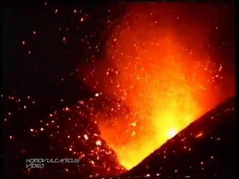 1995 Fogo volcano eruption in Cape Verde