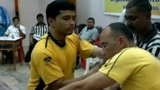 Laxman Singh Bhandari, Delhi Arm Wrestling with Manipur Player