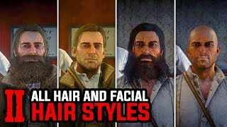 All Max Growth Hair and Facial Hair Styles (Arthur and John) - Red Dead Redemption 2