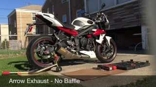 getlinkyoutube.com-Triumph Street Triple R Arrow Exhaust