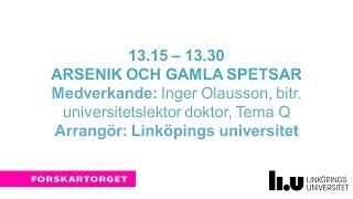 Forskartorget2016 - Arsenik och gamla spetsar