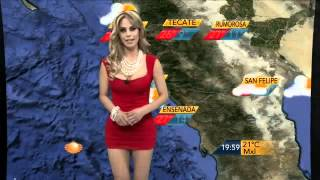 getlinkyoutube.com-Sandra Bennett  En El Clima, su Primer dia TELEVISA MEXICALI