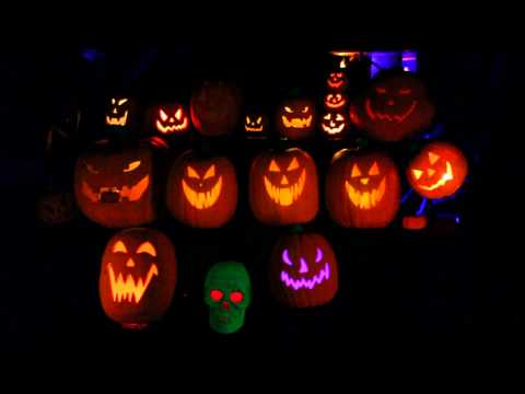 Grim Grinning Singing Pumpkins Halloween Display -GH5JXynkizw