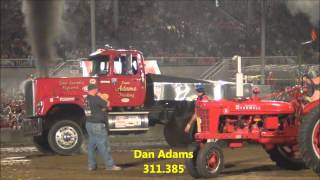 "getlinkyoutube.com-2014 Canfield Fair ""Big Rigs"" Modified Semi Truck Pull"