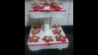 getlinkyoutube.com-PAP torre porta cupcake com papelao e EVA