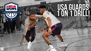 getlinkyoutube.com-Team USA 1 on 1 Drill | Team USA Guards Go Head To Head