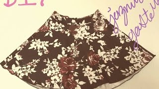 getlinkyoutube.com-Como Hacer Una Falda Sencilla De Moda- How To Make An Easy Skirt