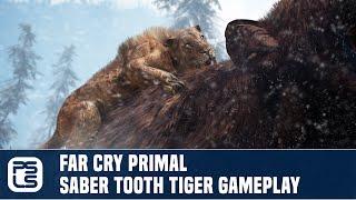 getlinkyoutube.com-Far Cry Primal Exclusive Gameplay - Saber Tooth Tiger