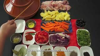 getlinkyoutube.com-Arabic Food - Chicken Tagine Recipe Middle Eastern cooking Tajine Tajina Moroccan