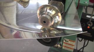 getlinkyoutube.com-Lazze Metal Shaping: Stainless Steel Panel in the Bead Roller