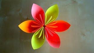getlinkyoutube.com-Origami Blumen falten - DIY Blumen basteln mit Papier - Bastelideen Ostern - Geschenke basteln