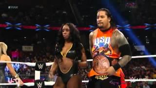 getlinkyoutube.com-WWE RAW Naomi & Jimmy Uso vs Natalya & Tyson Kidd