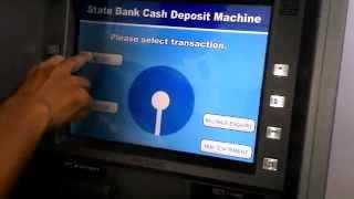 How To Deposit Cash easily in SBI Cash Deposit Machine width=