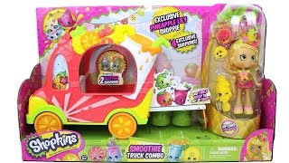 Shopkins Smoothie Truck Combo Unboxing Review with Excluisve Shoppies Doll Pineapple Lilly