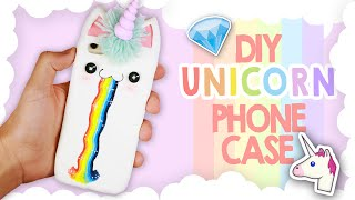getlinkyoutube.com-DIY | Kawaii Unicorn Phone Case Tutorial - Cover Unicorno Kawaii