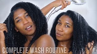 getlinkyoutube.com-A Complete Week in My New Hair Washing Routine | Natural Hair Growth Test