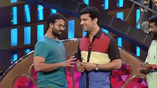 Jayasurya imitates Mammootty, Mohanlal, Suresh Gopi and Dileep on Mazhavil Manorama Cinemaa Chirimaa