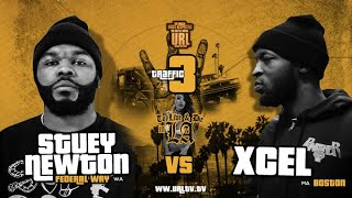 XCEL VS STUEY NEWTON SMACK/ URL RAP BATTLE