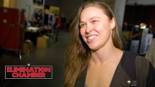 Ronda Rousey feels the difference walking into WWE Elimination Chamber: Exclusive, Feb. 25, 2018