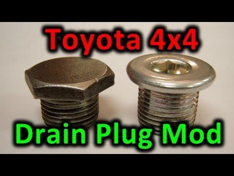 Toyota 4x4 Drain Plug Mod ( Quick Tip / Cheap trick )