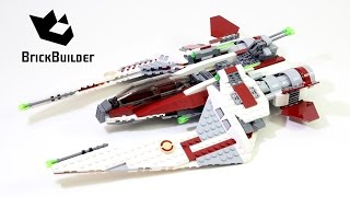getlinkyoutube.com-Lego Star Wars 75051 Jedi Scout Fighter - Lego Speed Build