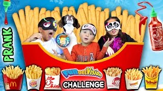 getlinkyoutube.com-French Fry Challenge w/ SRIRACHA HOT SAUCE PRANK! (FUNnel Vision Blind-Folded Taste Test Game)