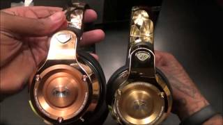 getlinkyoutube.com-Monster 24K Rose Gold Professional DJ-style headphones