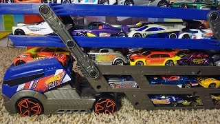Hot Wheels City Turbo Hauler - Holds 40 Cars!