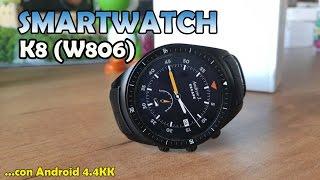 getlinkyoutube.com-Smartwatch K8 (W806) - Uno de los relojes más completos con Android 4.4 KK y 3G
