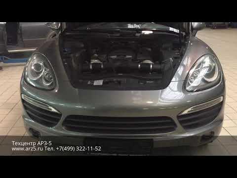 Установка антивандальной защиты фар на Porsche Cayenne