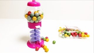 getlinkyoutube.com-Galaxy Gumball Machine - Pink Candy Toy ガムボールマシーン
