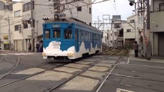 阪堺電軌のダイヤモンドクロス Diamond crossing of Hankai Tramway orbit,Osaka,Japan