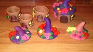 getlinkyoutube.com-Craft Tutorial: Clay Fairy House Box