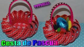 getlinkyoutube.com-♥ Tutorial: Cesta o Canastita de Pascua hecha de Goma Eva / Foamy    Easter Basket ♥