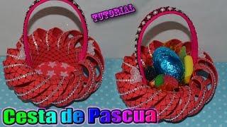 ♥ Tutorial: Cesta o Canastita de Pascua hecha de Goma Eva / Foamy || Easter Basket ♥